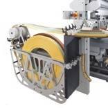 Сокращение времени цикла: До 6 постоянно доступных на станке рулонов для быстрой подачи кромки