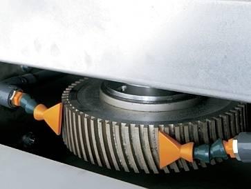 Шпиндель грубого сегментированного алмазного периферического инструмента для кромки (опция)