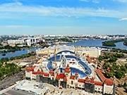 г. Москва. Парк остров мечты. Крыша сделана с использованием плёнки evolam Silver