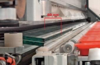 Автоматический раскрой + разлом + разделение: 60 мм