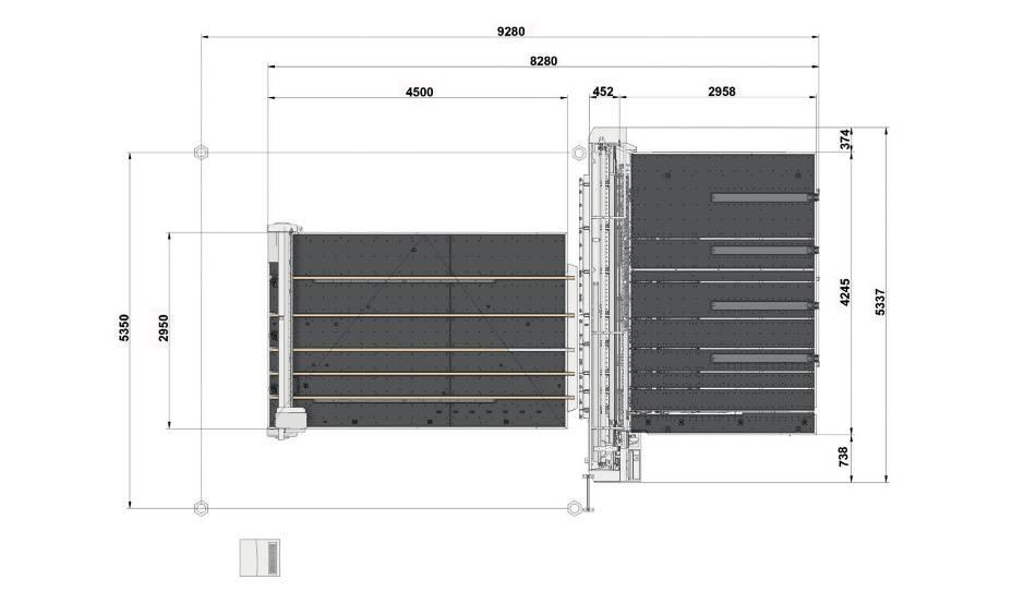Genius Comby R-A37 (Genius 37CT с подъемом и транспортными ремнями + Genius 37 LM-A с транспортными ремнями и качающимися опорами для разгрузки/выгрузки стекла)