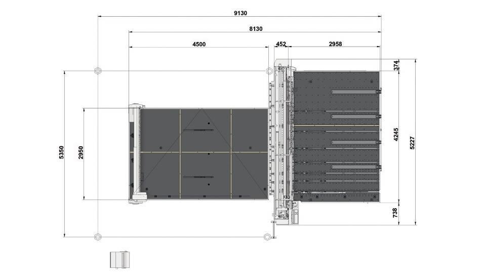 Genius Comby R-A37 (Genius 37CT с подъемом и рейками разлома + Genius 37 LM-A с транспортными ремнями и качающимися опорами для разгрузки/выгрузки стекла)