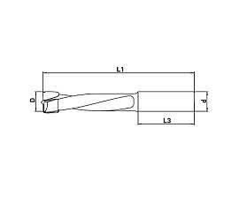 Сверла для глухих отверстий, алмазные DP