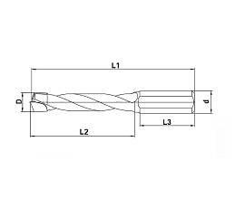 Сверла для сквозных отверстий, алмазные DP