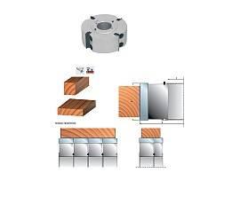 Насадные профильные фрезы со сменными твердосплавными пластинами (HW) системы IsoProfil